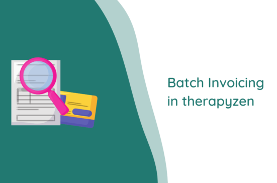 therapyzen batch invoicing
